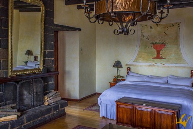 Ecuador Riobamba Hosteria La Andaluza habitación Simon Bolivar