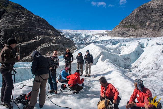 Glaciar Jostedalsbreen Noruega Descanso