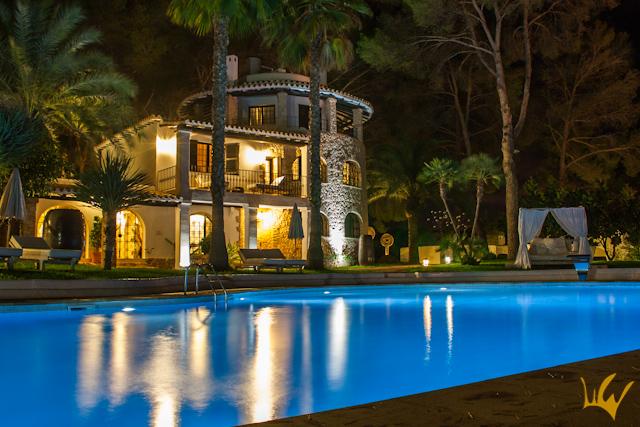 Ibiza Hotel Sa Talaia Nocturna Piscina