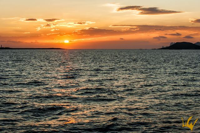 Barco Goleta S.Y.Aiglon Ibiza Puesta de sol