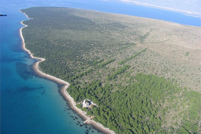 Croacia Isla de Vir Villa Lanterna Aero Paisaje