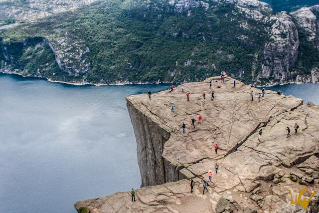 Noruega Sobrevolar Lysenfhord Preikestolen