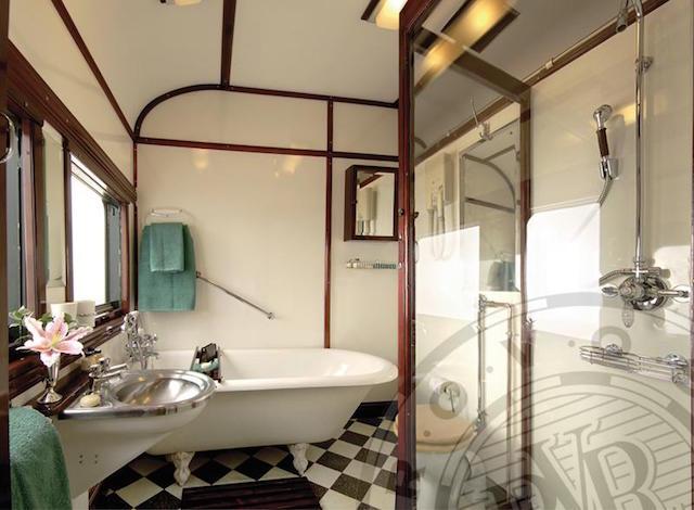 Tren de lujo Rovos Rail Baño Suite
