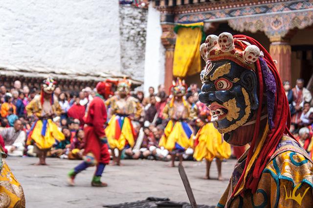 Butan Tsechu Paro Mascara
