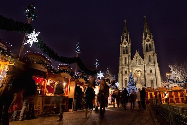 Mercadillo Navidad Plaza Paz Praga