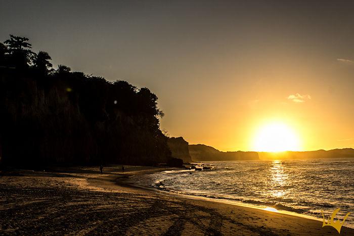 Pipa puesta de sol